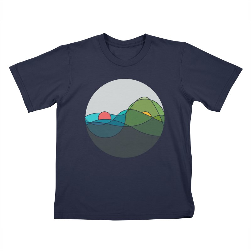 Sunrise vs Sunset Kids T-Shirt by YANMOS