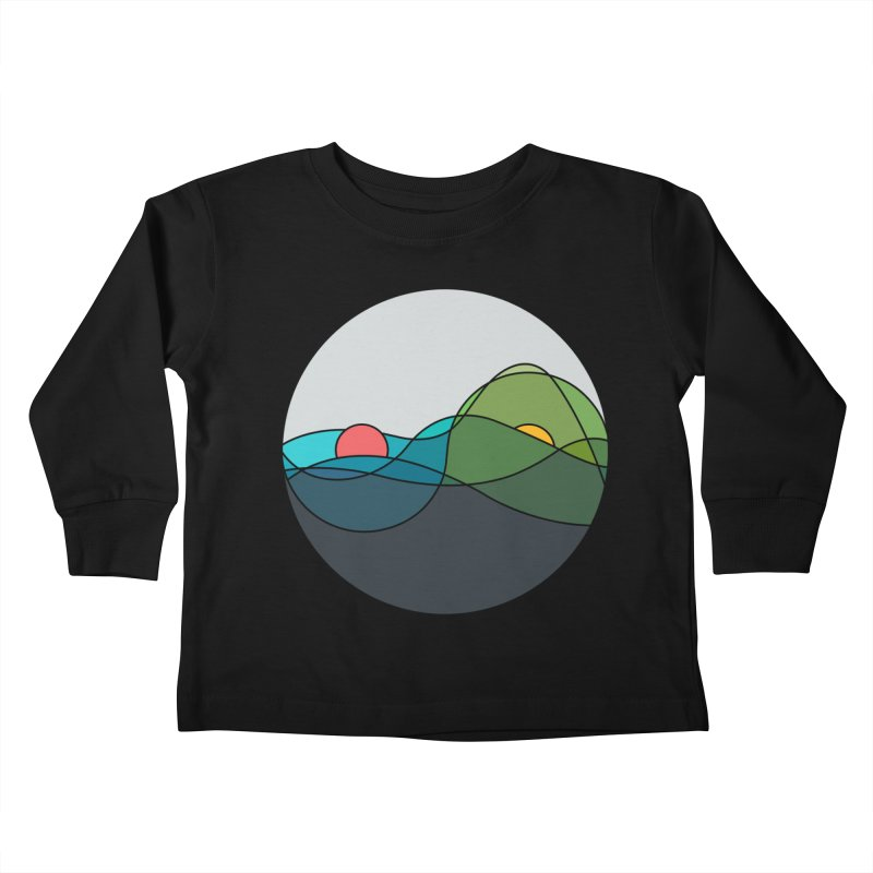 Sunrise vs Sunset Kids Toddler Longsleeve T-Shirt by YANMOS