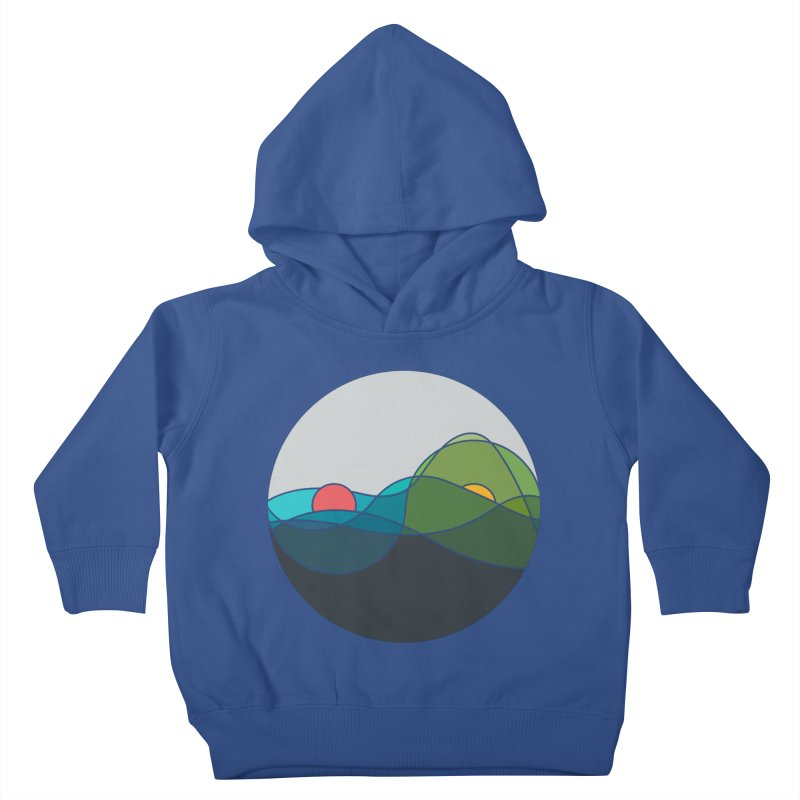 Sunrise vs Sunset Kids Toddler Pullover Hoody by YANMOS