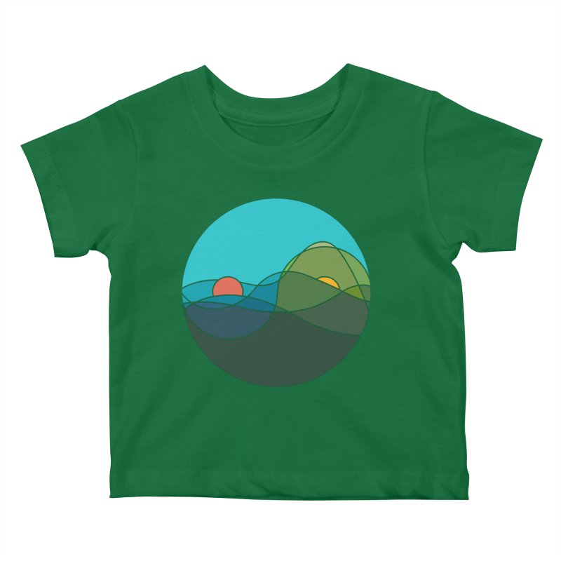Sunrise vs Sunset Kids Baby T-Shirt by YANMOS