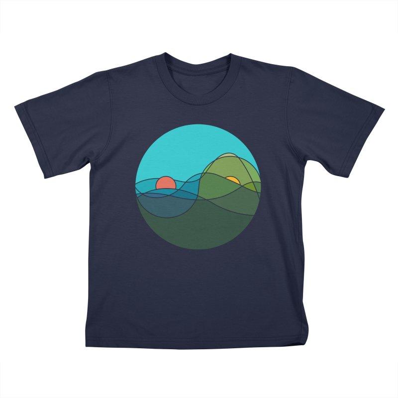Sunrise vs Sunset Kids T-Shirt by YANMOS