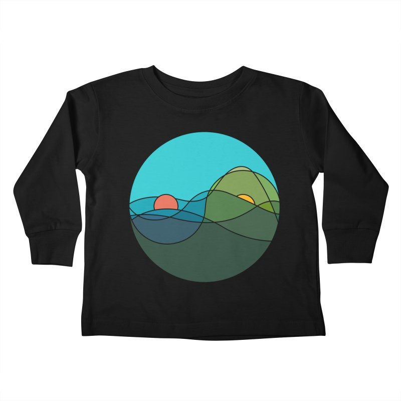 Sunrise vs Sunset Kids Toddler Longsleeve T-Shirt by YANMOS