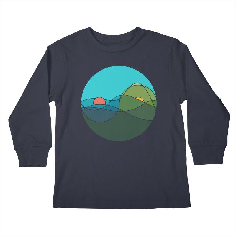 Sunrise vs Sunset Kids Longsleeve T-Shirt by YANMOS