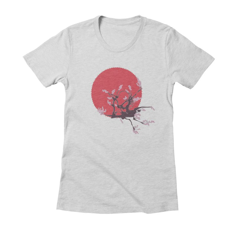 Rising Sun Women's Fitted T-Shirt by YANMOS