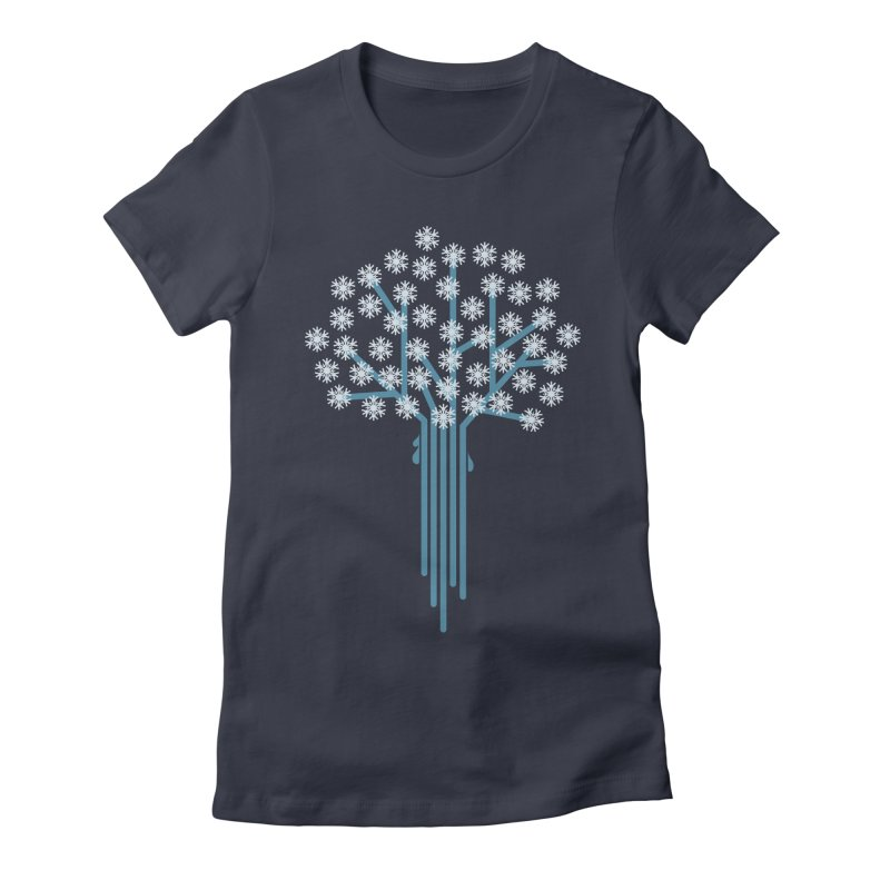 Winter Tree Women's Fitted T-Shirt by Yanmos's Artist Shop