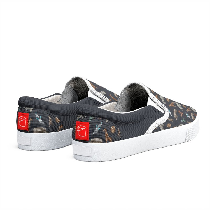 Animal Kingdom, origami style pattern Men's Shoes by YANMOS