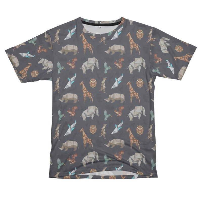 Animal Kingdom, origami style pattern Men's Cut & Sew by YANMOS