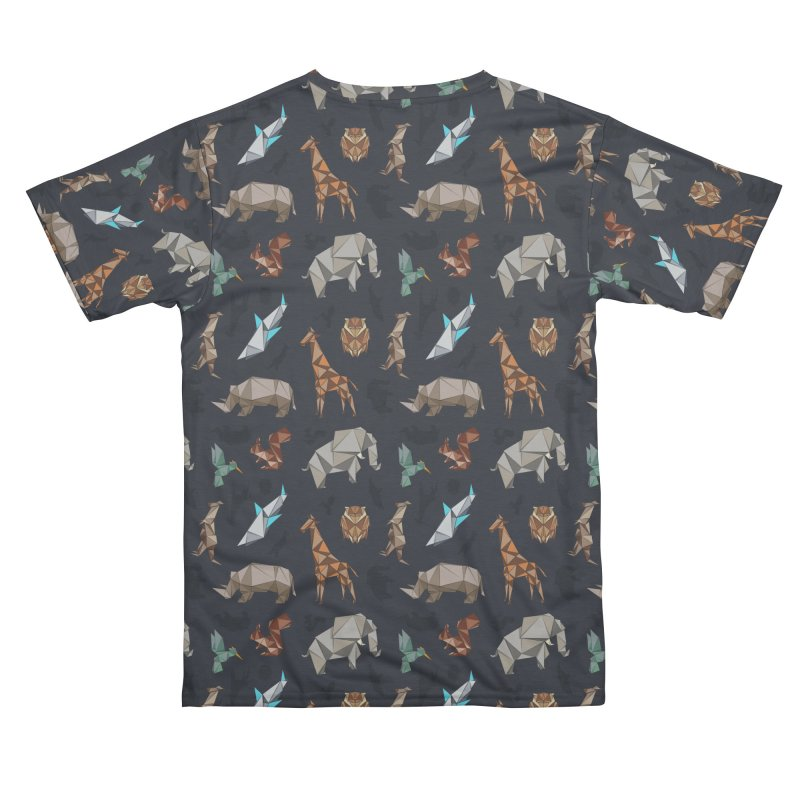 Animal Kingdom, origami style pattern Women's Cut & Sew by YANMOS