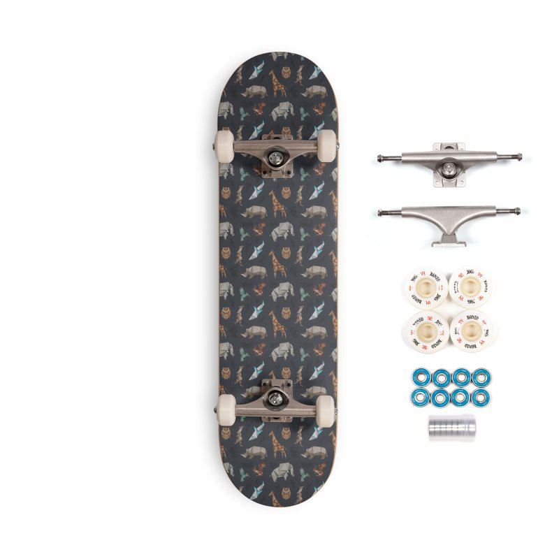 Animal Kingdom, origami style pattern Accessories Complete - Premium Skateboard by YANMOS