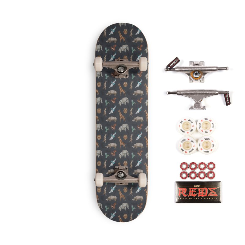 Animal Kingdom, origami style pattern Accessories Complete - Pro Skateboard by YANMOS