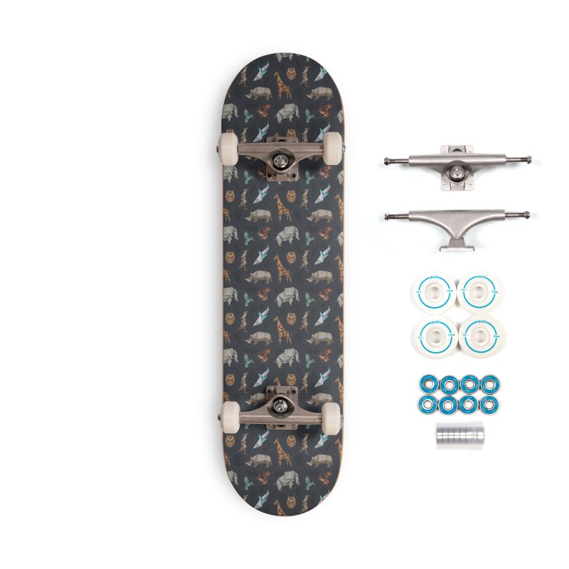 Animal Kingdom, origami style pattern Accessories Complete - Basic Skateboard by YANMOS