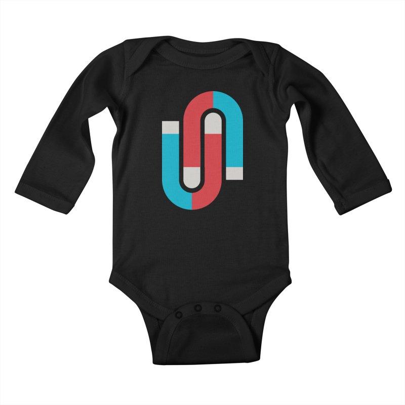 Magnetize Kids Baby Longsleeve Bodysuit by Yanmos's Artist Shop