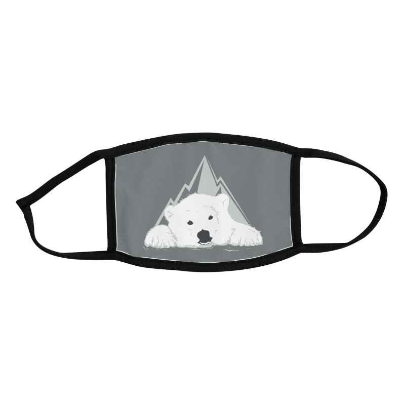 Melting Polar bear Accessories Face Mask by YANMOS