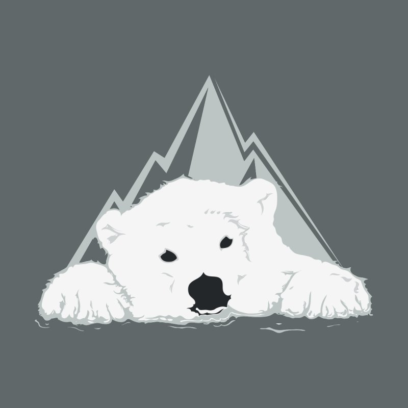 Melting Polar bear Men's T-Shirt by YANMOS