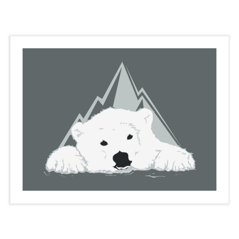 Melting Polar bear Home Fine Art Print by YANMOS