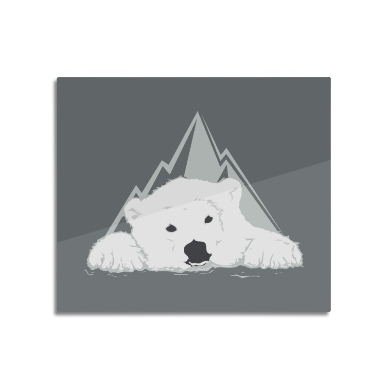 Melting Polar bear Home Mounted Aluminum Print by YANMOS