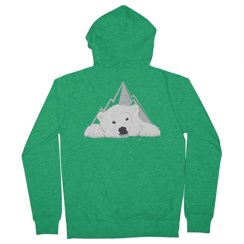 Melting Polar bear Women's Zip-Up Hoody by YANMOS