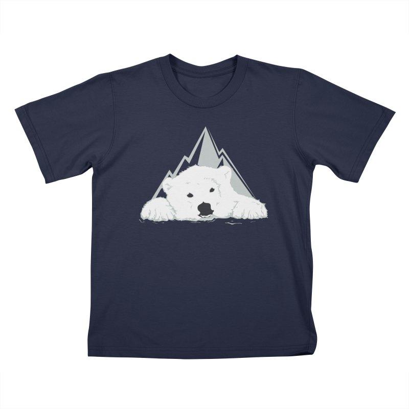 Melting Polar bear Kids T-Shirt by YANMOS
