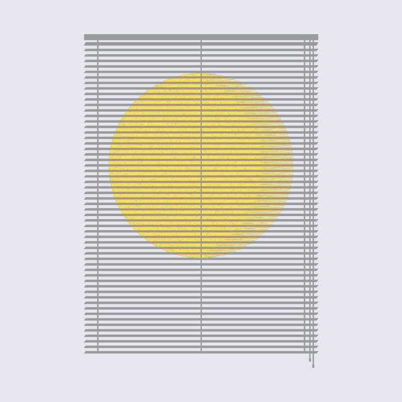 Let the sunshine in Home Mounted Aluminum Print by YANMOS