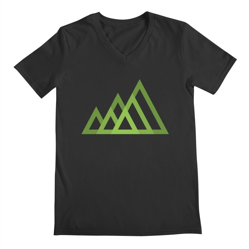Mountains Men's V-Neck by Yanmos's Artist Shop