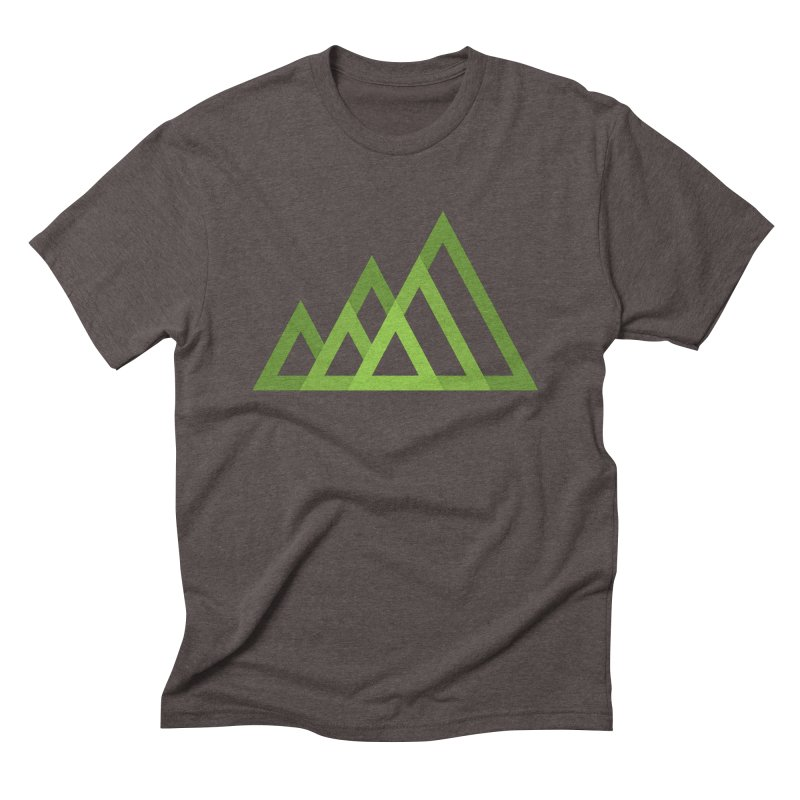 Mountains in Men's Triblend T-shirt Tri-Coffee by Yanmos's Artist Shop