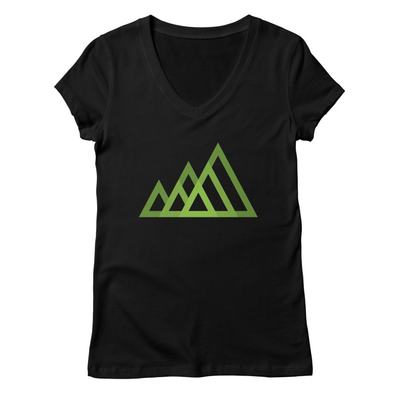Mountains Women's V-Neck by YANMOS