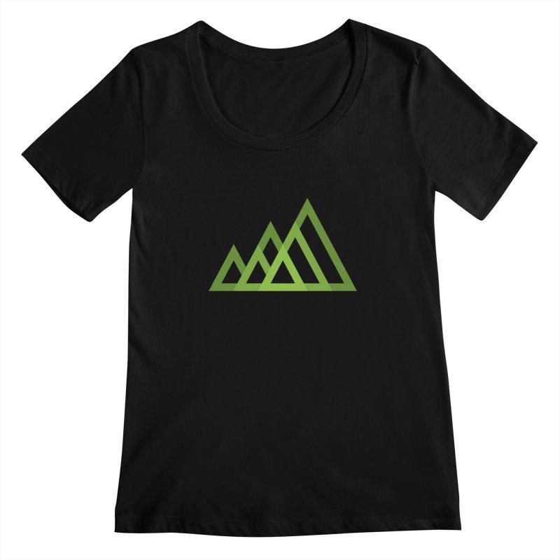 Mountains Women's Scoopneck by Yanmos's Artist Shop