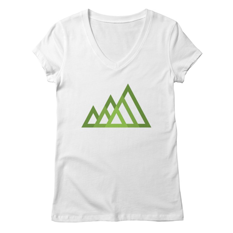 Mountains Women's V-Neck by Yanmos's Artist Shop