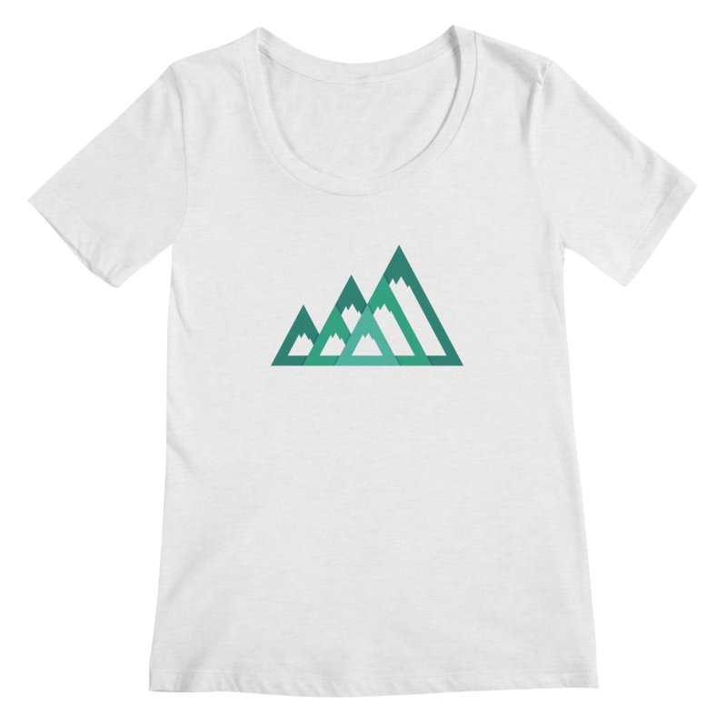 Mountains Women's Scoop Neck by YANMOS