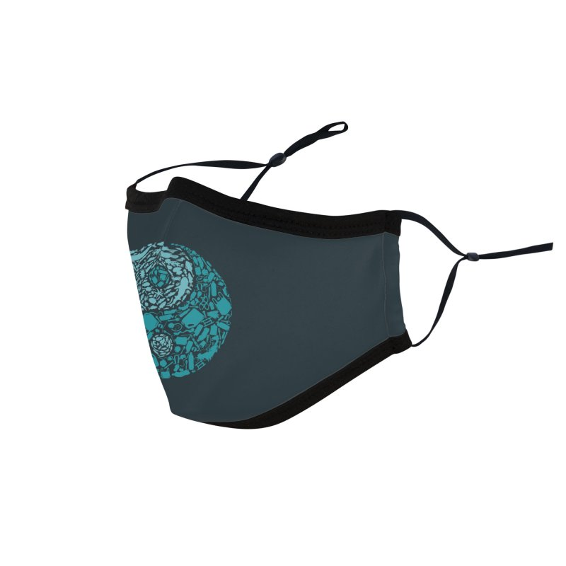 Sea life vs plastic Accessories Face Mask by YANMOS