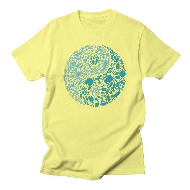 Sea life vs plastic Men's T-Shirt by YANMOS