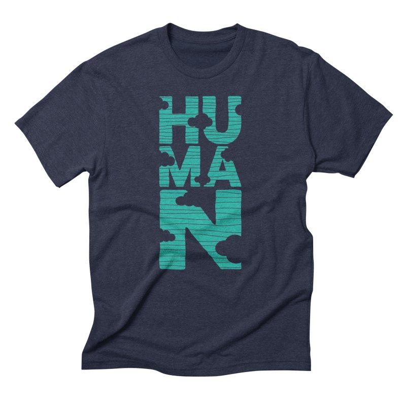 Human in Men's Triblend T-Shirt Navy by YANMOS