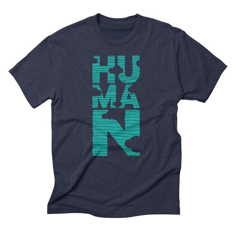 Human in Men's Triblend T-Shirt Navy by YANMOS