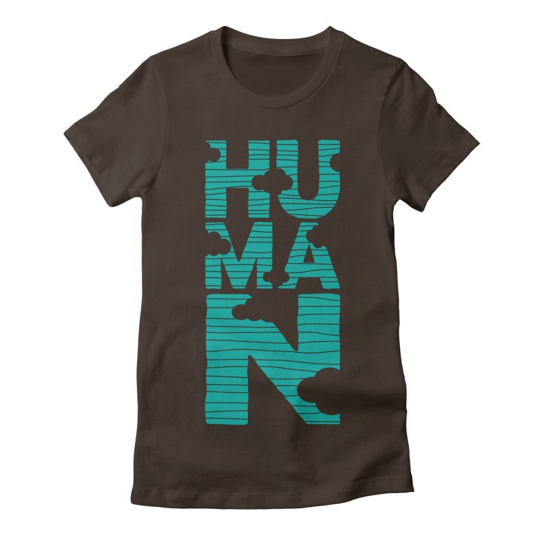 Human Women's Fitted T-Shirt by YANMOS