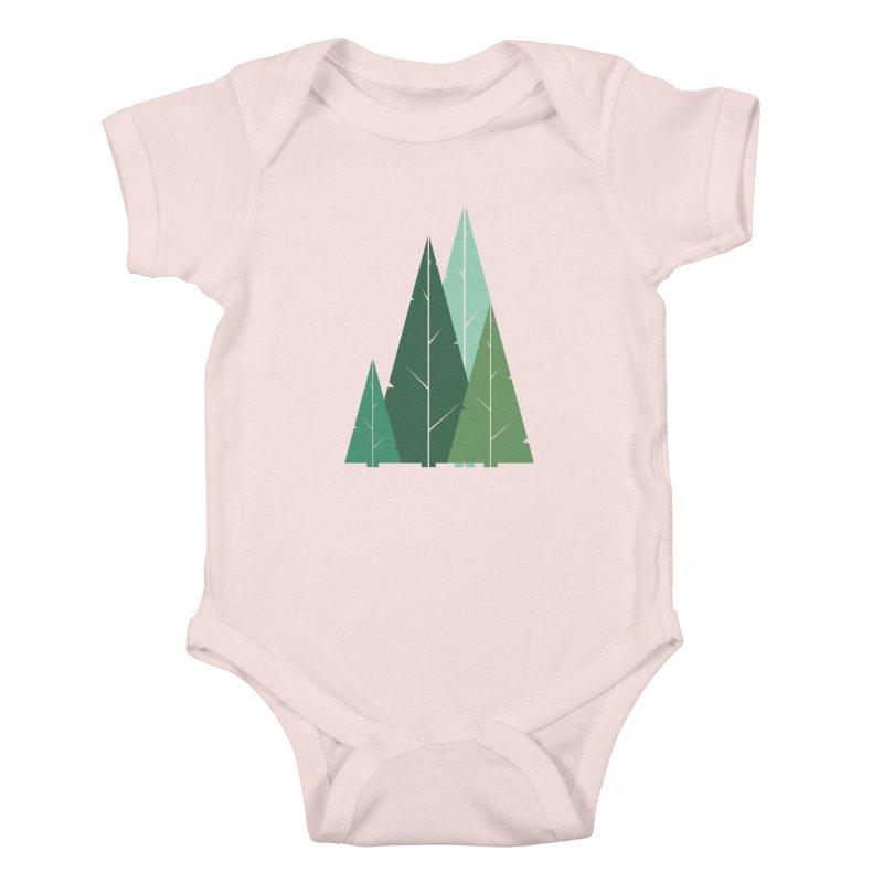 Cypress greens Kids Baby Bodysuit by YANMOS