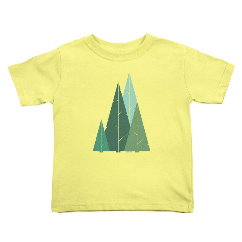 Cypress greens Kids Toddler T-Shirt by YANMOS