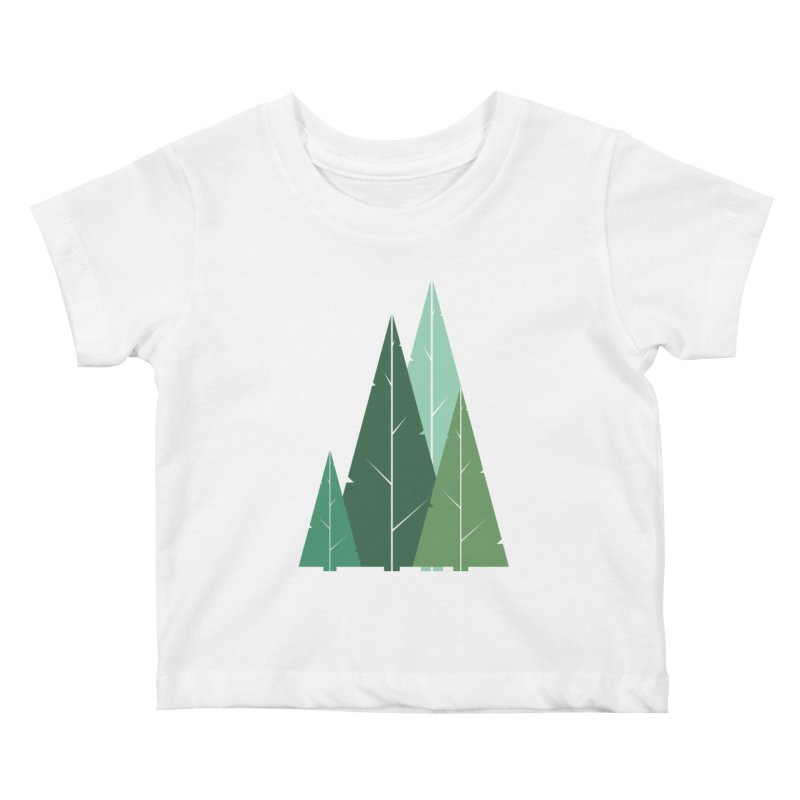 Cypress greens Kids Baby T-Shirt by YANMOS