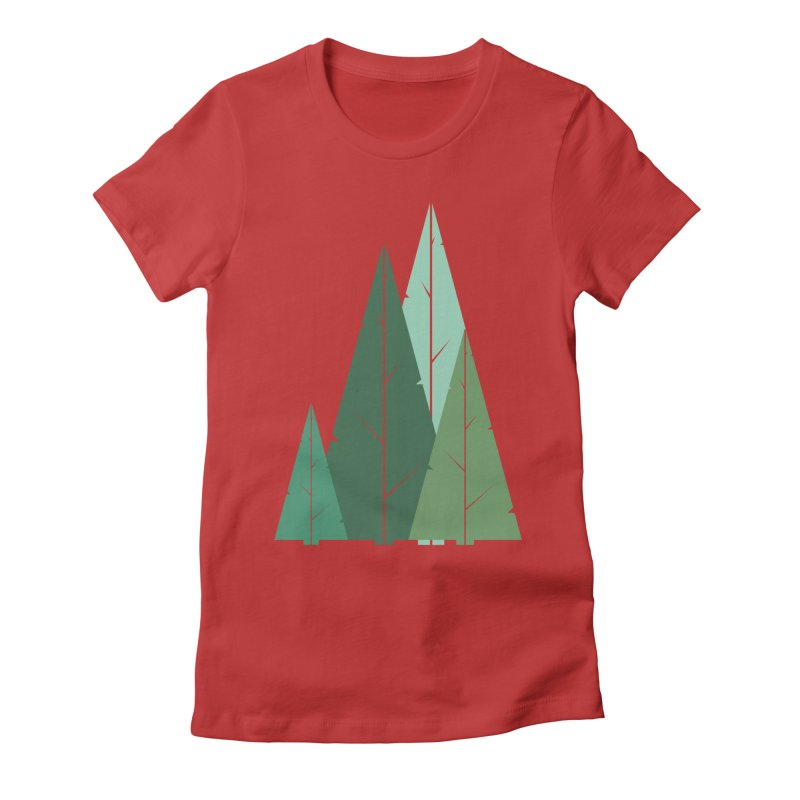Cypress greens Women's Fitted T-Shirt by YANMOS