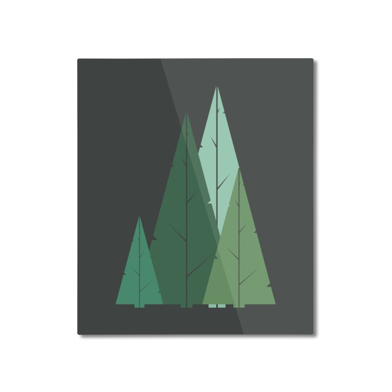 Cypress greens Home Mounted Aluminum Print by YANMOS