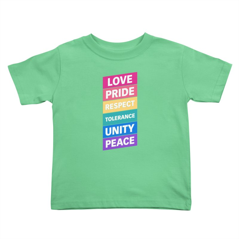 Six Words Kids Toddler T-Shirt by YANMOS