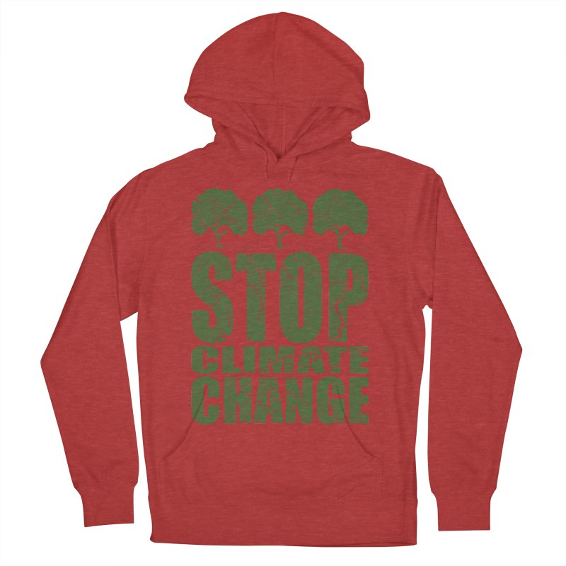 Stop Climate Change Men's Pullover Hoody by YANMOS