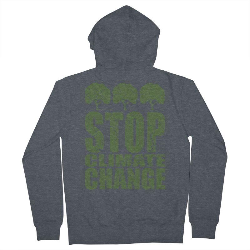 Stop Climate Change Men's Zip-Up Hoody by YANMOS