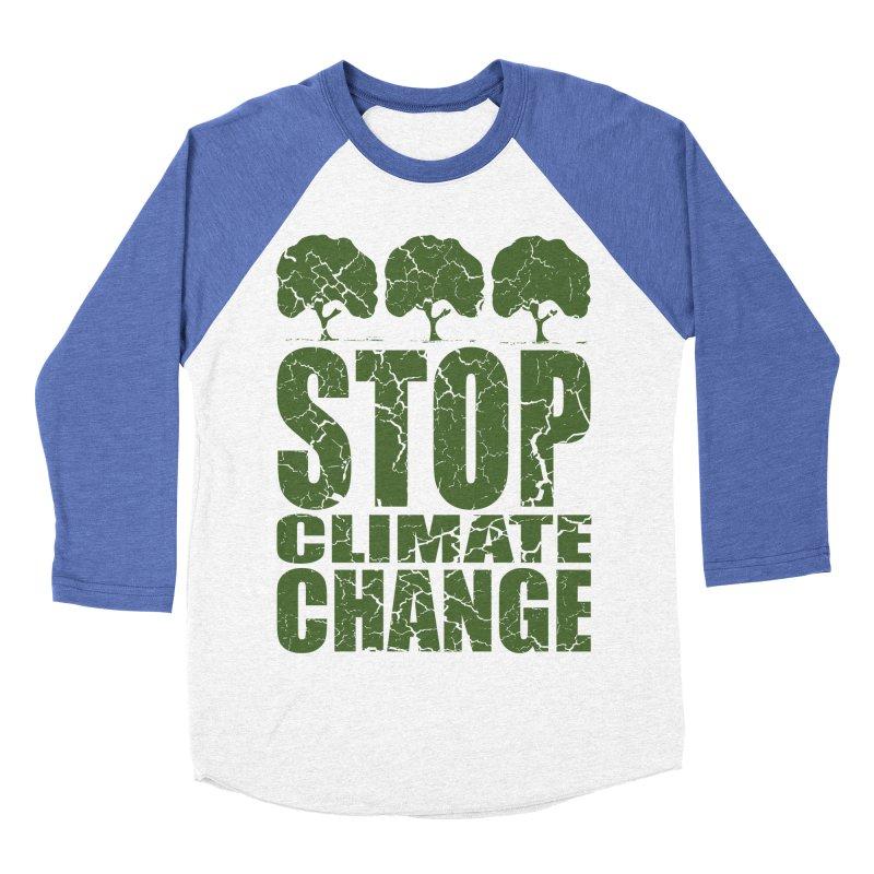 Stop Climate Change Men's Baseball Triblend T-Shirt by YANMOS