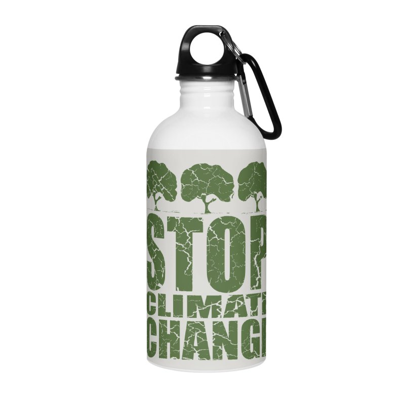 Stop Climate Change Accessories Water Bottle by YANMOS