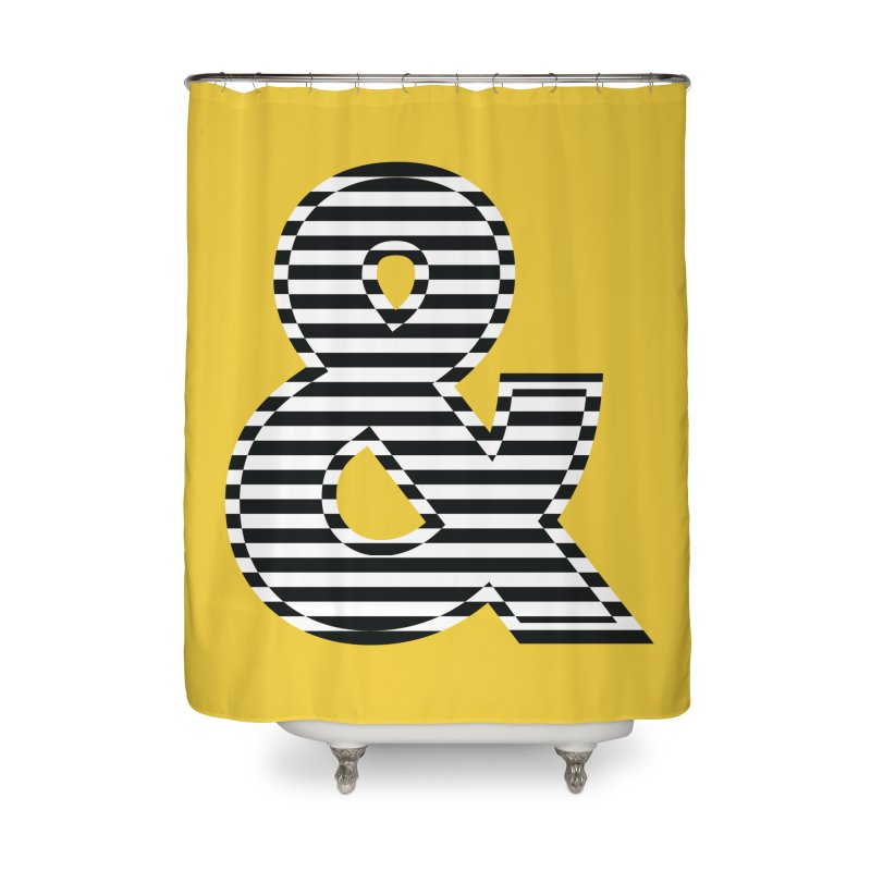 The Ampersand Home Shower Curtain by YANMOS