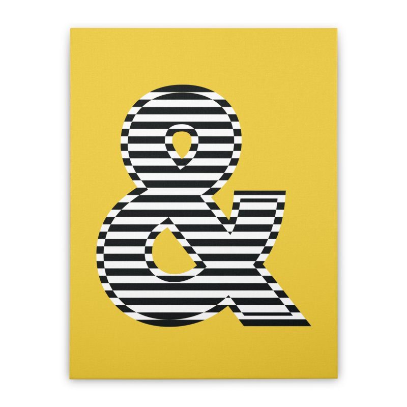 The Ampersand Home Stretched Canvas by YANMOS