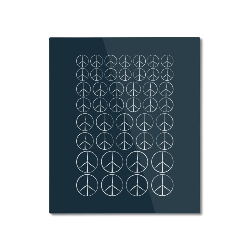 Green peace(wind power) Home Mounted Aluminum Print by YANMOS