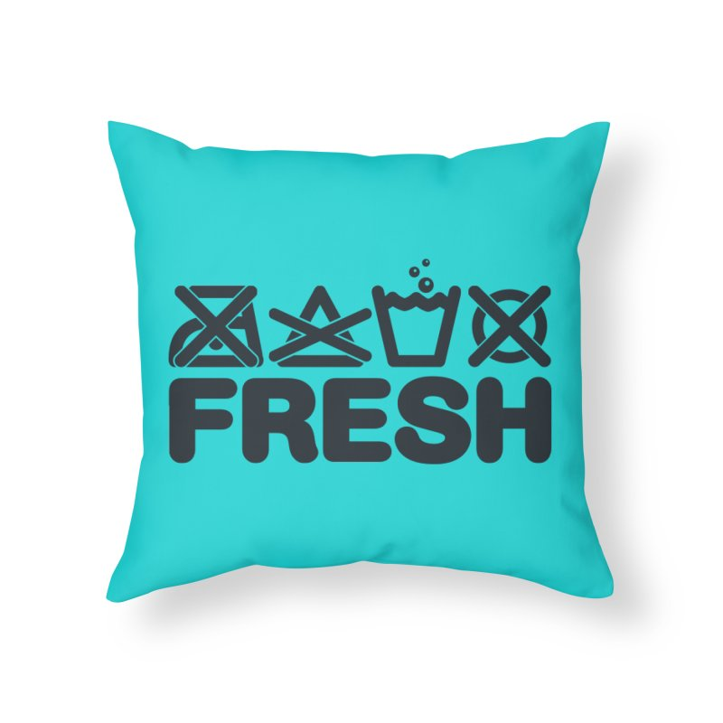 FRESH Home Throw Pillow by YANMOS