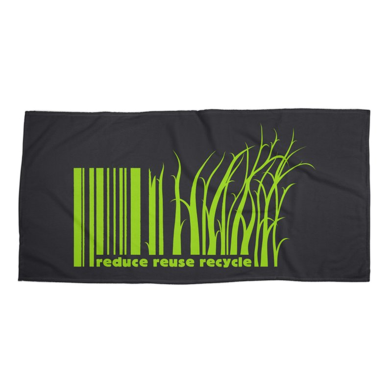 Reduce Reuse Recycle Accessories Beach Towel by YANMOS