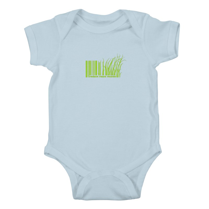 Reduce Reuse Recycle Kids Baby Bodysuit by YANMOS